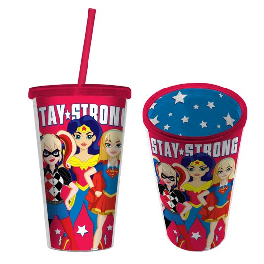 "Copo Canudo Super Hero Girls ""Stay Strong"" - URBAN"