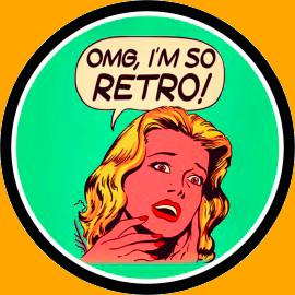 Placa Decorativa Redonda OMG, I'm so Retro!