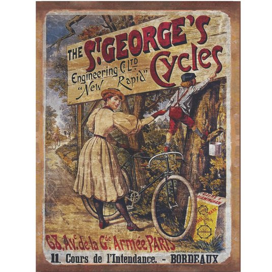 Placa Decorativa Bicicleta The St George's Cycles