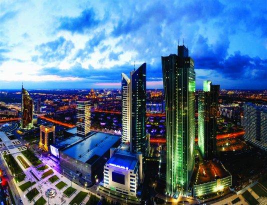 Placa Decorativa Edifícios Cazaquistão