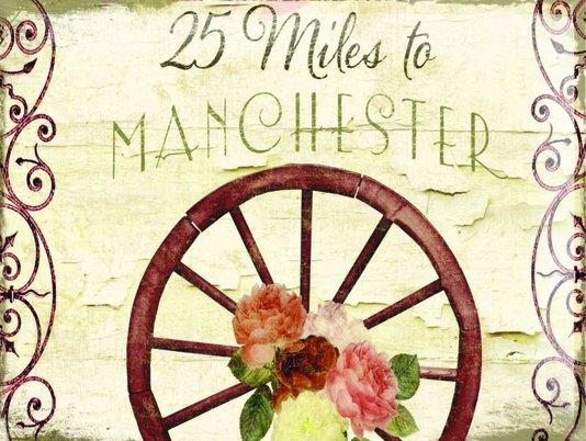 Placa Decorativa 25 Miles to Manchester
