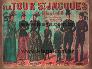 Placa Decorativa Publicidade Antiga A La Tour St Jacques