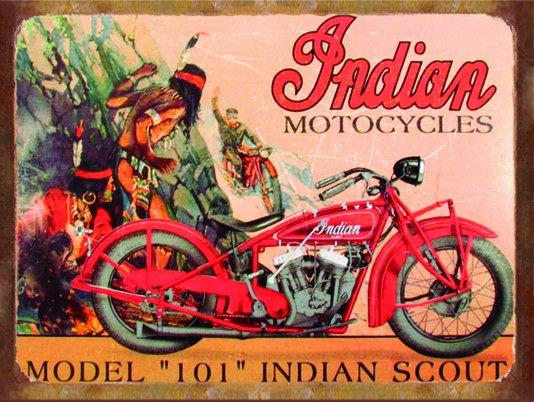 Placa Decorativa Moto Indian Motocycles Model 101