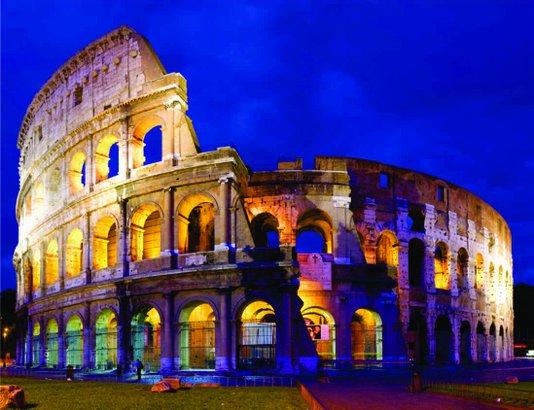 Placa Decorativa Coliseu Roma Itália