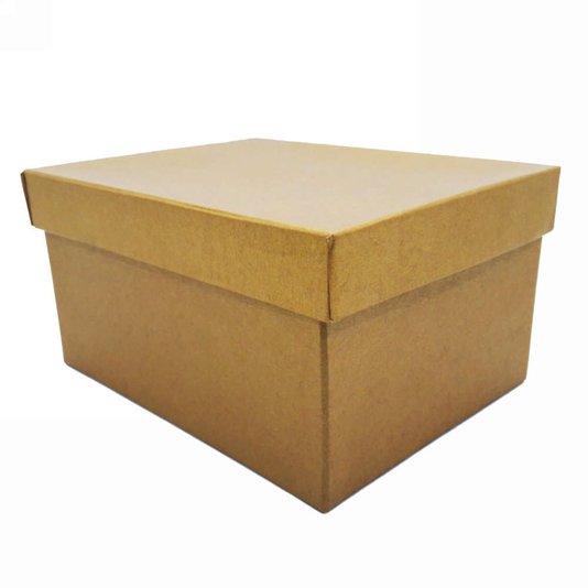 Caixa Para Presentes Quadrado  Dourada - 29
