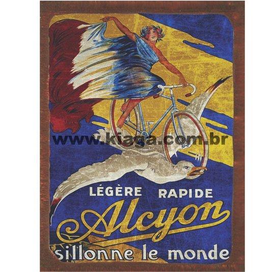 Placa Decorativa Bicicleta Vintage Alcyon