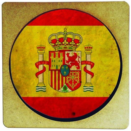 Porta Copo em MDF Bandeira da Espanha