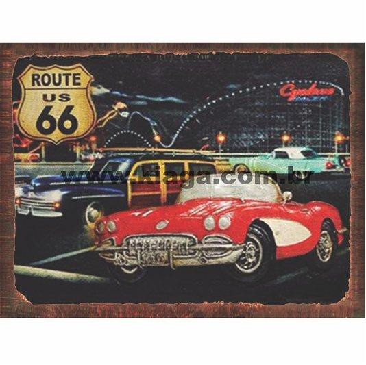 Placa Decorativa Carro Vintage Route 66