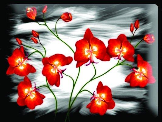 Placa Decorativa Flores