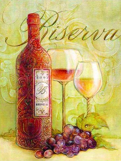 Placa Decorativa Vinho Riserva