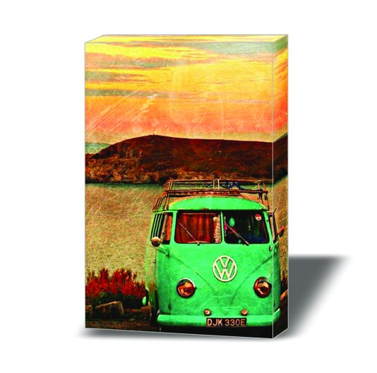 Quadro Painel em Tecido Canvas Vintage Kombi