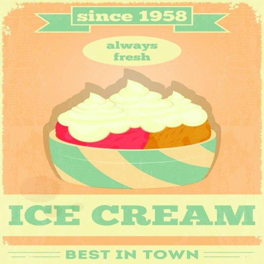 Placa Decorativa Ice Cream Best In Town Sice 1958