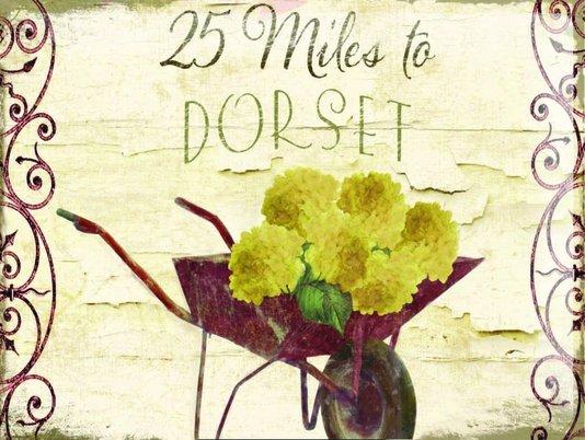 Placa Decorativa 25 Miles to Dorset