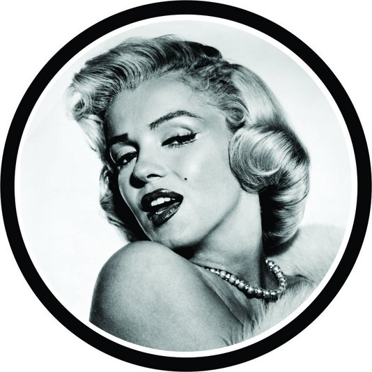 Placa Decorativa Redonda Merilyn Monroe