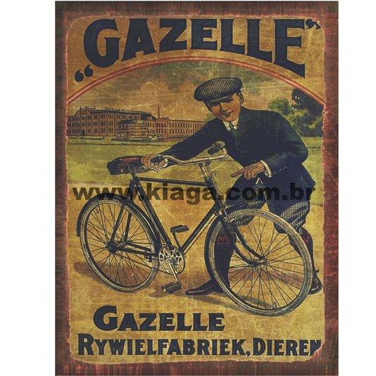 Placa Decorativa Bicicleta Gazelle