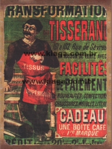 Placa Decorativa Publicidade Antiga Transformation Tisserand