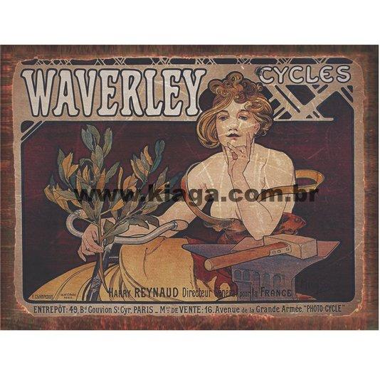Placa Decorativa Bicicleta Vintage Waverley Cycles