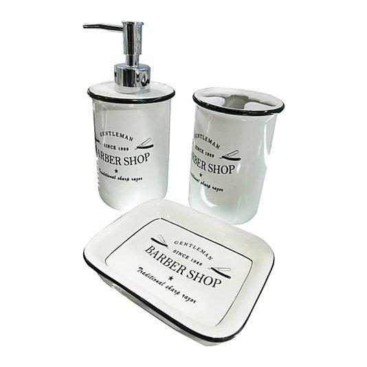 Kit de Cerâmica Barber Shop para Banheiro - URBAN