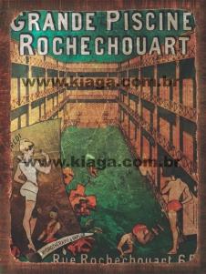 Placa Decorativa Publicidade Antiga Grande Piscine Rochechouart