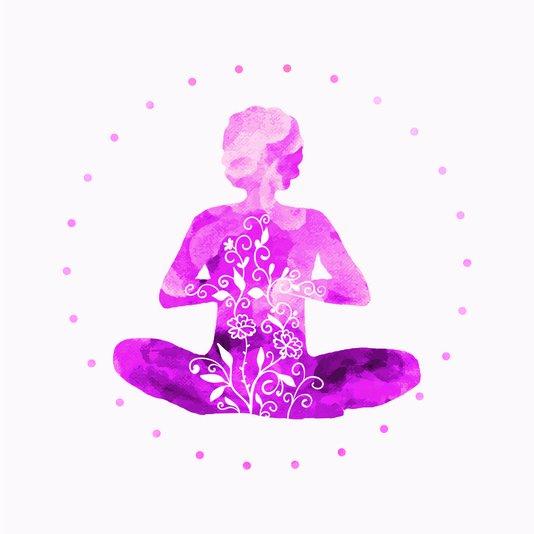 Placa Decorativa Mulher Meditando