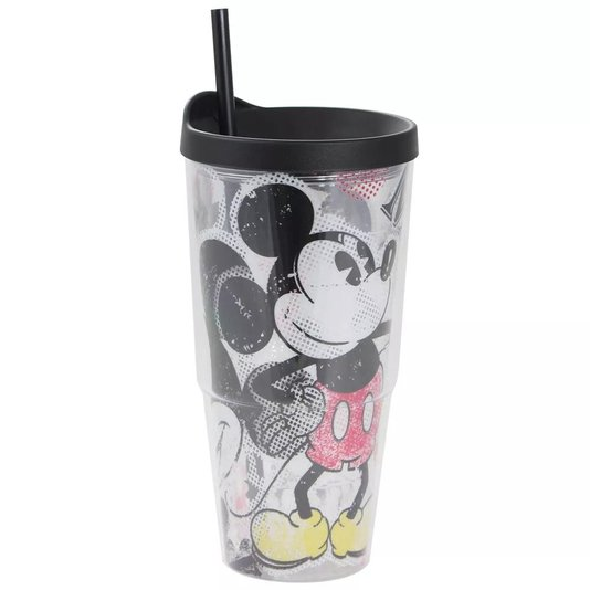 Copo Canudo Tumbler Mickey Mouse - ZONACRIATIVA