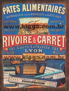 Placa Decorativa Publicidade Vintage Rivoire & Carret