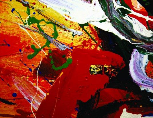 Placa Decorativa Pintura Cores Quentes