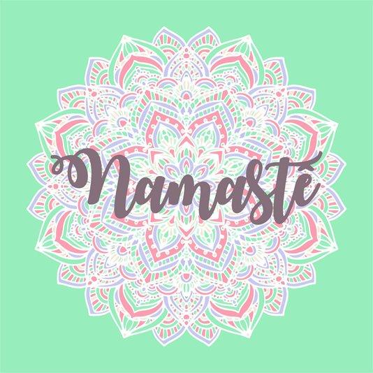 """Placa Decorativa Mandala Frase: """"Namastê"""""""