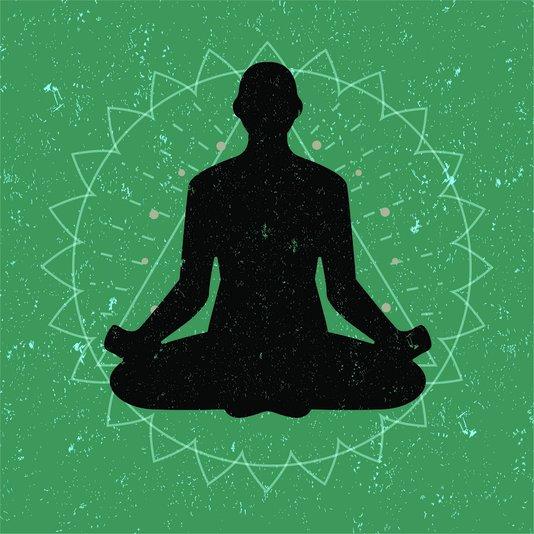 Placa Decorativa Pessoa Meditando