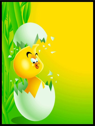 Placa Decorativa Infantil Pássaro na Casca do Ovo