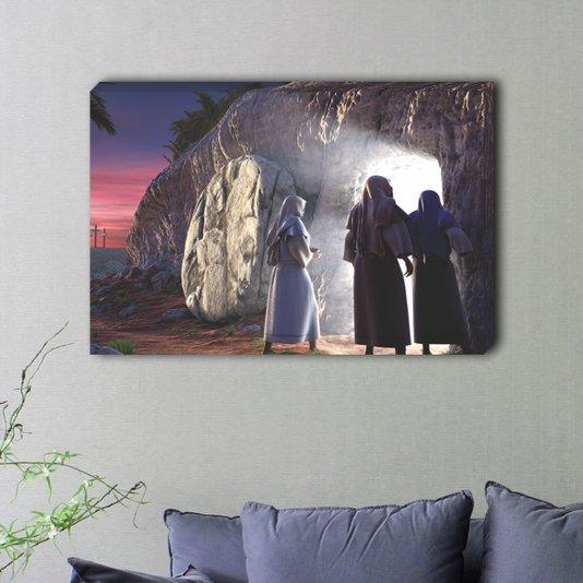 Quadro Painel em Tecido Canvas a Ressureição de Cristo