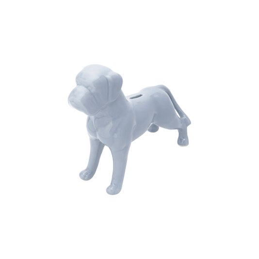 Cofre Cerâmica Dog Boxer Cinza - URBAN
