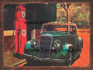 Placa Decorativa Publicidade Antiga Texaco