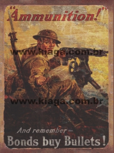 Placa Decorativa Ammunition