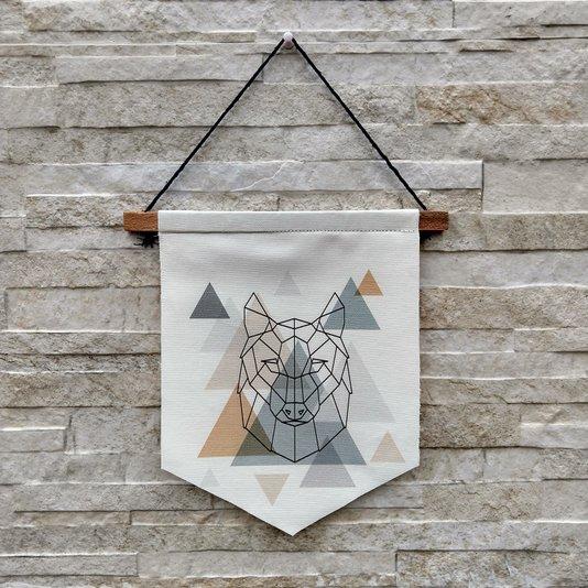 Flâmula Decorativa Lobo Geométrico Escandinavo K3114
