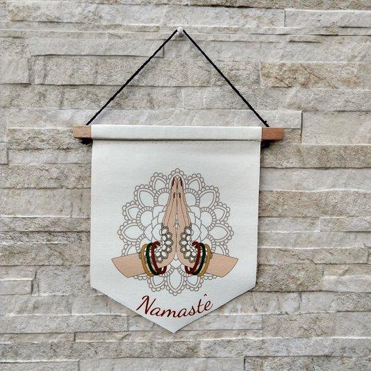 Flâmula Decorativa  Namaste Em Canvas K3094