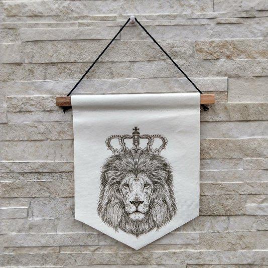 Flâmula Decorativa Rei Leão Preto E Branco K3112