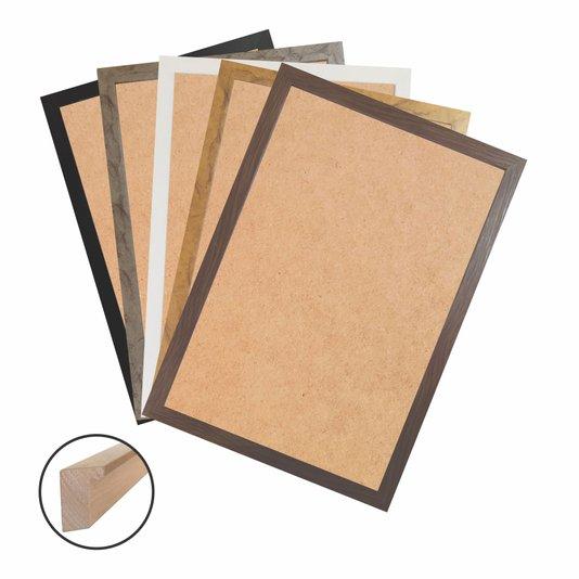 Moldura Caixinha para Quadros e Fotos com Fundo Mdf e Frente em PVC Antirreflexo - 1,5x3