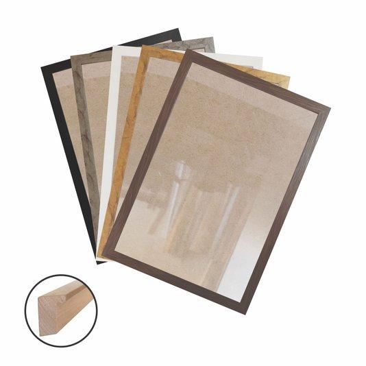 Moldura Caixinha para Quadros e Fotos com Fundo Mdf e Frente em Vidro - 1,5x3