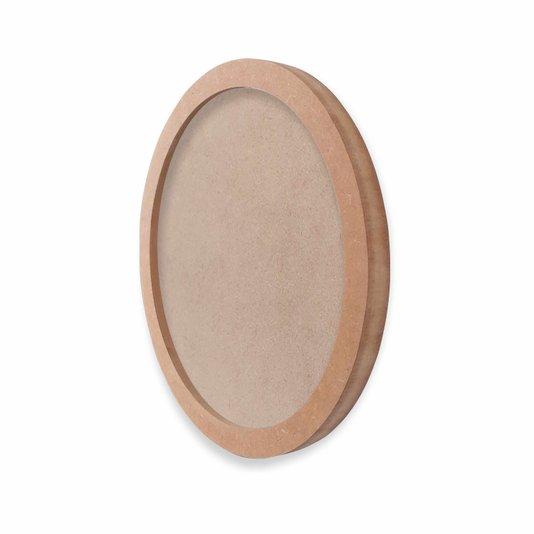 Moldura Redonda em MDF Cru 15mm para Quadros Decorativos com Fundo MDF e PVC Antirreflexo