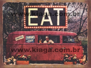 Placa Decorativa Kombi Eat