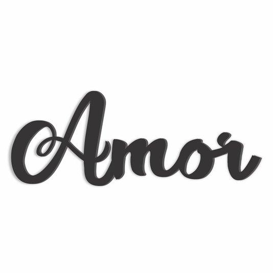 Palavra Decorativa Amor Lettering Para Parede - Laqueado 6mm