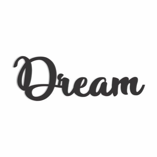 Palavra Decorativa Dream Lettering Para Parede - Laqueado 6mm