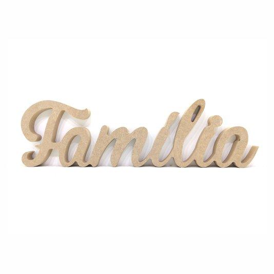 Palavra Decorativa Família 40cm em Mdf Cru 15mm - cnc27