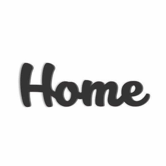 Palavra Decorativa Home Lettering Para Parede - Laqueado 6mm