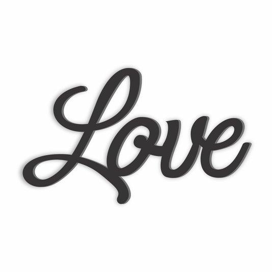 Palavra Decorativa Love Lettering Para Parede - Laqueado 6mm