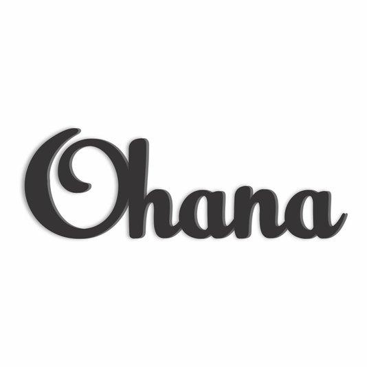 Palavra Decorativa Ohana Lettering Para Parede - Laqueado 6mm