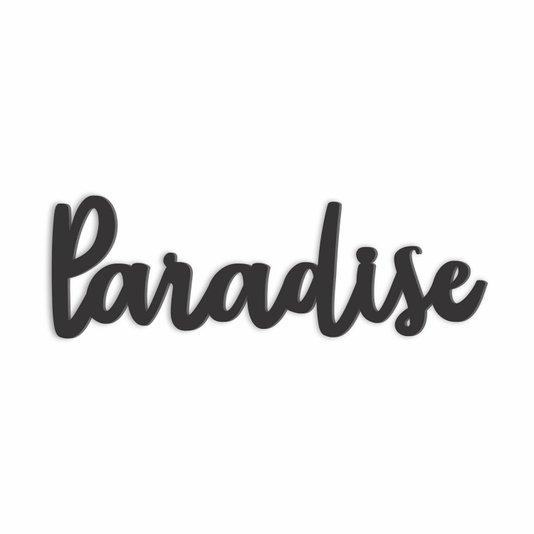 Palavra Decorativa Paradise Lettering Para Parede - Laqueado 6mm