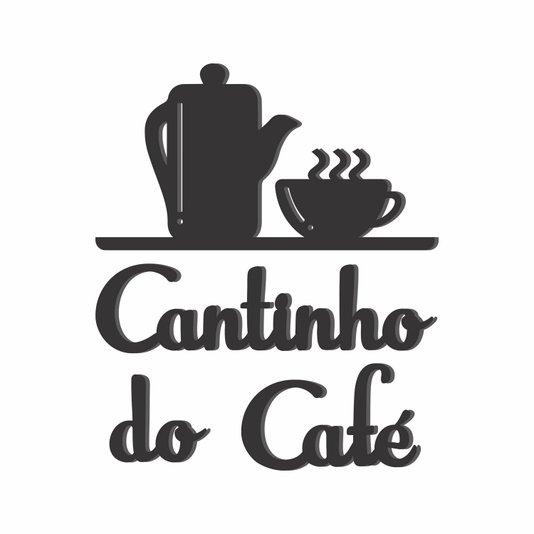 Palavras Decorativas Aplique Cantinho do Café Lettering Para Parede - Laqueado 6mm