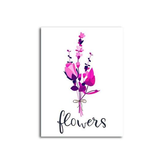 Placa Decorativa Buquê Flores Silvestres Flowers